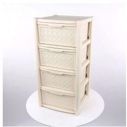 Regał szafka komoda Arianna 4 szuflady krem