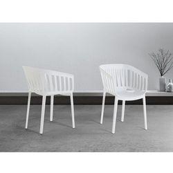 Krzeslo biale - do jadalni - kuchenne - ogrodowe - DALLAS