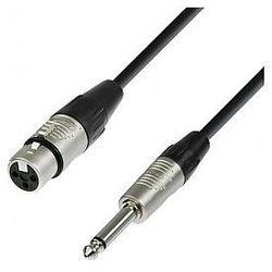 Adam Hall Cables 4 Star Series - Microphone Cable REAN XLR żeński / 6.3 mm Jack mono 1.5 m przewód mikrofonowy
