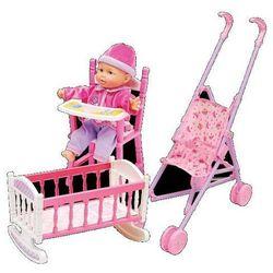 Lalka Julka z wózkiem i łóżeczkiem