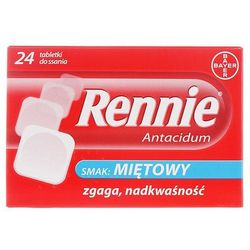 RENNIE ANTACIDUM 24 tabletki