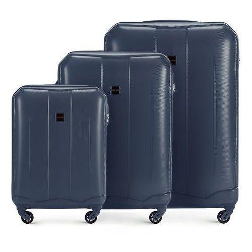 83500cab8bd02 WITTCHEN Zestaw walizek granatowy ABS - porównaj zanim kupisz