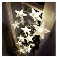 Uroczy łańcuch LED w kształcie gwiazdek 2 m
