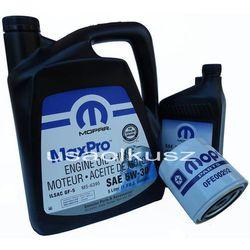 Oryginalny MOPAR filtr oraz mineralny olej 5W30 Chrysler Aspen 4,7 V8 -2008