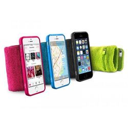 Rovens.pl PURO Running Band - Frotka do biegania z etui iPhone 5/5s/SE + key pocket (niebieski)