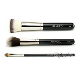 Hakuro - Zestaw 3 pędzli do makijażu twarzy - podstawowy