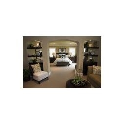 Foto naklejka samoprzylepna 100 x 100 cm - Sypialni w domu w stylowe meble i wystrój.