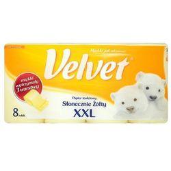 VELVET 8szt XXL Słonecznie Żółty papier toaletowy