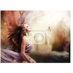 Obraz Beautiful Girl w Fantasy mistycznego i magicznego Spring Garden
