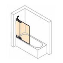 Parawan nawannowy 2- częściowy ze stałym segmentem Huppe Studio Paris prawy, chrom mat, szkło przeźroczyste PR0439.E05.321