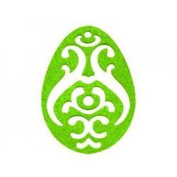 Dekoracja z filcu PISANKA AŻUR duża (II) zielona - 1 SZTUKA