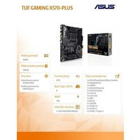 Asus Płyta głowna TUF Gaming X570-PLUS AM4 4DDR4 HDMI/DP ATX