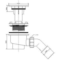 Syfon brodzikowy 90 McALPINE HC27CPNPB