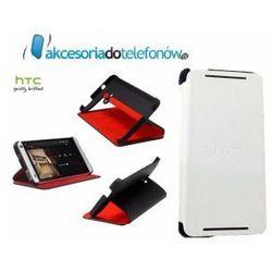 Etui Flip Cover LOGO HTC ONE M7 BIAŁE WYPRZEDAŻ