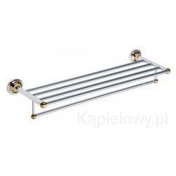 RETRO Półka na ręczniki z wieszakiem 60,5cm chrom-złoto 144202098