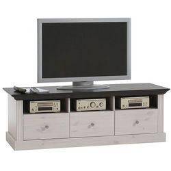 Biało - czarna romantyczna szafka TV Monaco - czarny ||biały
