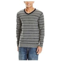 bluza BENCH - V Neck Stripe Brushed Nickel (GY11333)