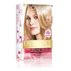 Excellence Creme farba do włosów 9.1 Bardzo jasny blond popielaty