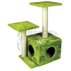 Drapak dla kota domek 43x33x68 cm zielony