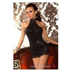 Czarna sukienka mini i stringi Vivianne