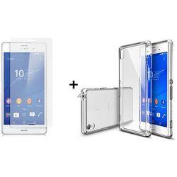Zestaw Rearth   Obudowa   Etui Ringke Fusion Case + szkło ochronne   Sony Xperia Z3   kolor Crystal View