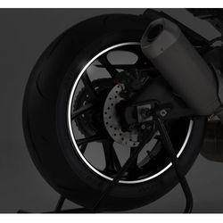 Biały odblaskowy pasek PUIG na felgi (z aplikatorem)