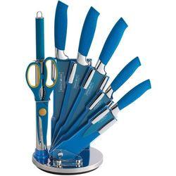 8 Elem. Zestaw Noży z Kolorową Powłoką Non-Stick ze Stojakiem RL-BLU8-W