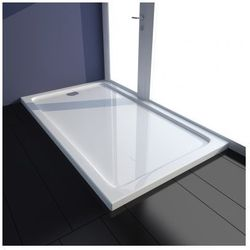 Brodzik prysznicowy prostokątny ABS biały 70 x 120 cm Zapisz się do naszego Newslettera i odbierz voucher 20 PLN na zakupy w VidaXL!