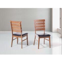 Krzeslo brazowe - do jadalni - do kuchni - drewniane - DUMBO