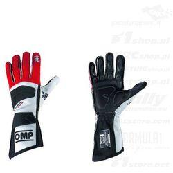 Rękawice rajdowe OMP TECNICA EVO czerwone (homologacja FIA)