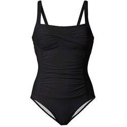 Kostium kąpielowy wyszczuplający bonprix czarny