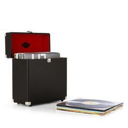fe242369b71d4 Vinylbox Walizka na płyty winylowe skóra 30 płyt winylowych czarna styl ret