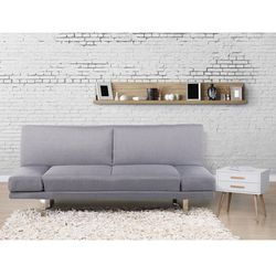 Sofa z funkcją spania jasnoszara - kanapa rozkładana - wersalka - YORK