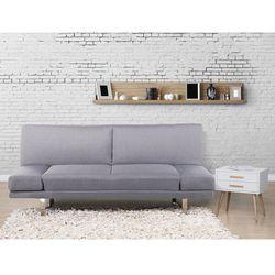 Sofa z funkcja spania jasnoszara - kanapa rozkladana - wersalka - YORK