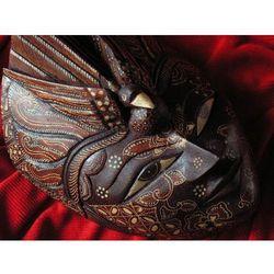 Dekoracyjny Prezent RZEŹBA Egzotyczna Maska INTELIGENCJI