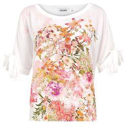 Bluzka biała z printem 3495