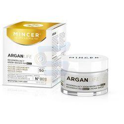Mincer Pharma ARGANLIFE 50+ Regenerujący krem-maska do twarzy na noc 50 ml