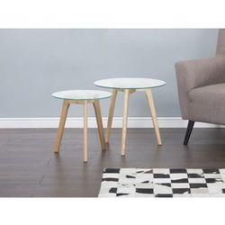 Stolik kawowy szklany - ława - stół - zestaw - MISSOURI