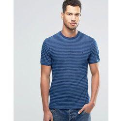 Original Penguin T-Shirt with indigo Feeder Stripe T-Shirt - Blue