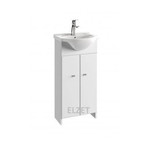 DEFRA szafka Tania D40 biały połysk + umywalka Roberto 40 026-D-04001+1528