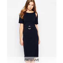 Twin Sister A Line Midi Dress - Navy