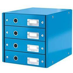 Kontener z szufladami Leitz Click&Store Wow A4, 6049 niebieski