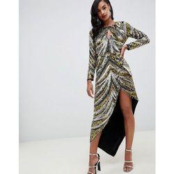3eb562d8 suknie sukienki asos night ombre sequin fringe mini dress multi ...