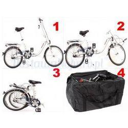 Aluminiowy rower składany SKŁADAK niska rama MIFA 3-BIEGI SHIMANO NEXUS biały + torba