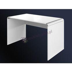 Białe biurko do manicure 130 cm wysoki połysk