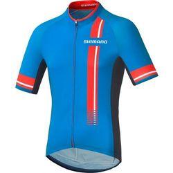 Shimano Performance Print Koszulka kolarska Mężczyźni niebieski