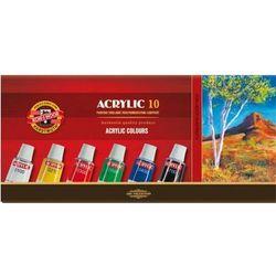 Koh-I-Noor, Farby akrylowe, 10 kolorów, 10x16 ml Darmowa dostawa do sklepów SMYK