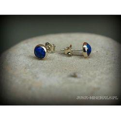 Kolczyki sztyfty - lapis lazuli w oprawie