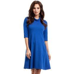 e0a38a26bf suknie sukienki rozkloszowana trapezowa sukienka z szerokimi ...