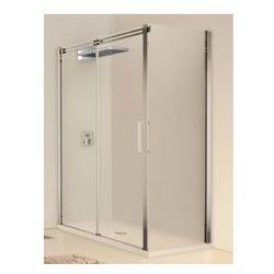 Drzwi prysznicowa przesuwne Novellini Elysium Diamanti 2P+F 156-158,5 cm z elementem stałym, do ścianki bocznej F- lewa, chrom, DIAMA2PF160S-1K